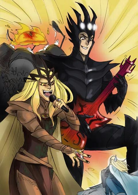 That's how Melkor and Sauron party