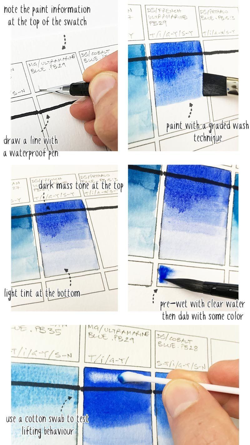 How To Make Watercolor Swatches Like A Boss Watercolor Beginner