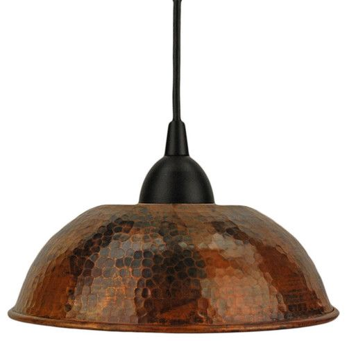 Hand hammered copper dome pendant light traditional pendant hand hammered copper dome pendant light traditional pendant lighting overstock aloadofball Choice Image