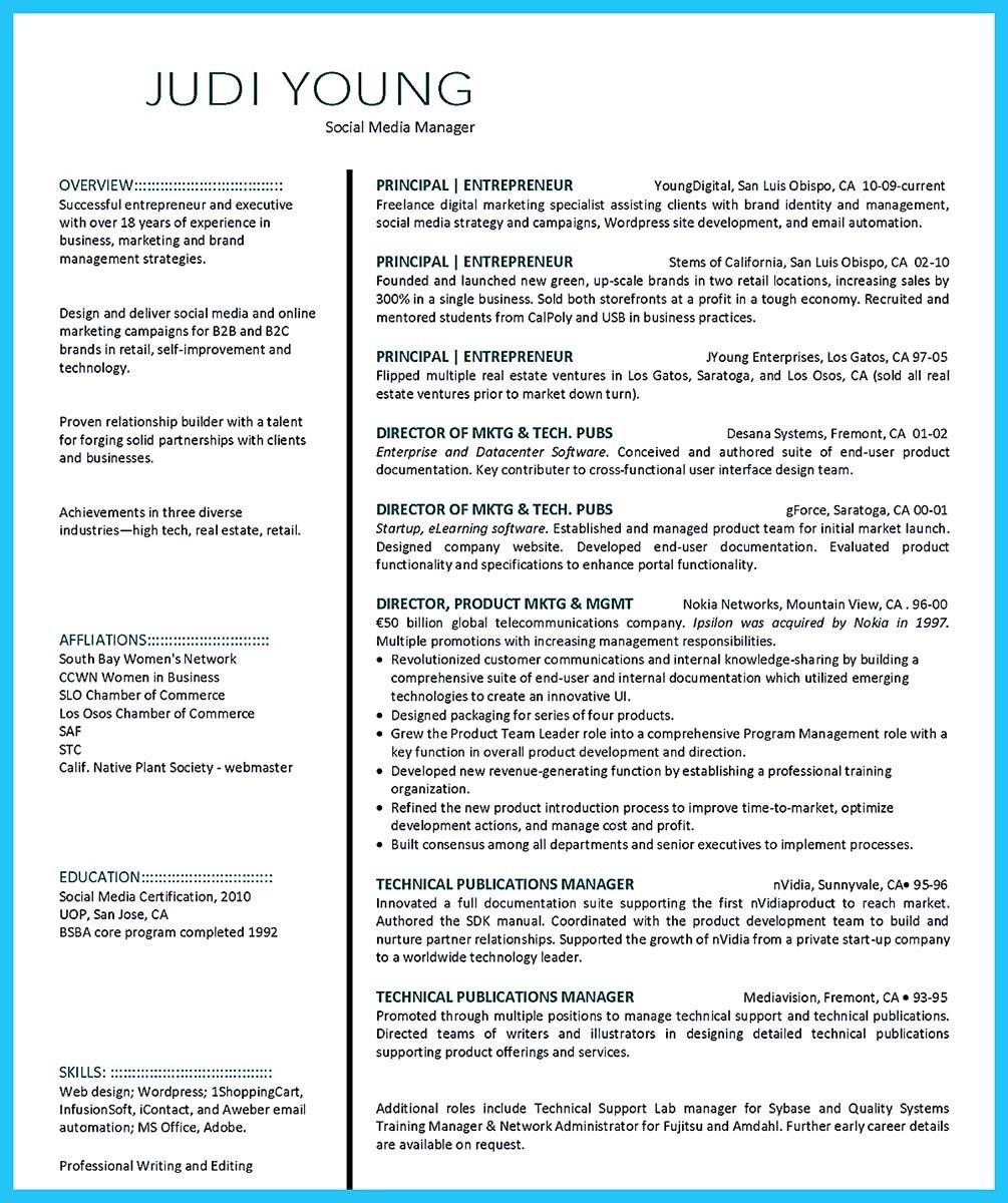 sample resume for luxury brand