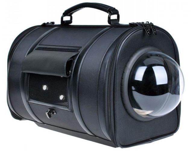 5320bcfbd9c4 Black Leather Ralph Lauren Dog Carrier.