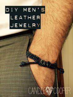 Make It Manly Diy Men S Leather Jewelry Mens Leather Jewelry Leather Jewelry Diy Diy Leather Bracelet