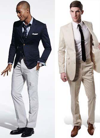 Left: Blazer, $325, by Tommy Hilfiger. Shirt, $98, by Gant. Tie ...