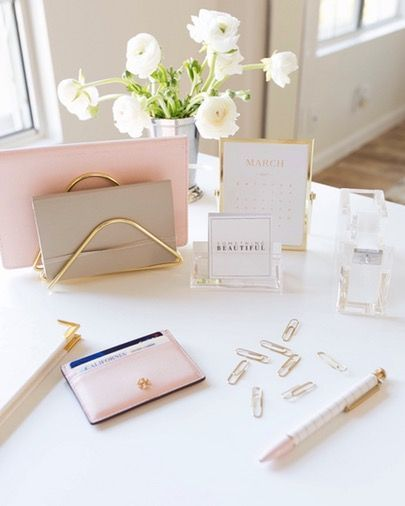 Super Bedroom Pink Gold Desk Accessories Ideas With Images Work Office Decor Desk Accessories Office Cute Office Desk Accessories
