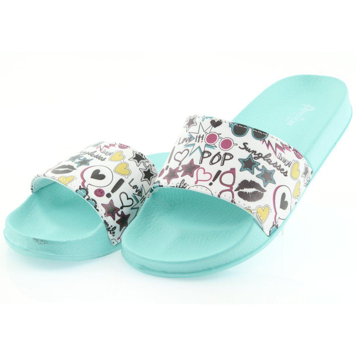 Klapki Dla Dzieci Americanclub Klapki Sunglasses Profilowane American Club Zielone Shoes Sandals Fashion