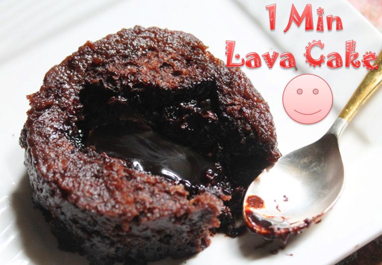 Microwave Eggless Molten Lava Cake Recipe 1 Min Lava Cake Recipe Yummy Tummy Lava Cake Recipes Lava Cakes Microwave Cake