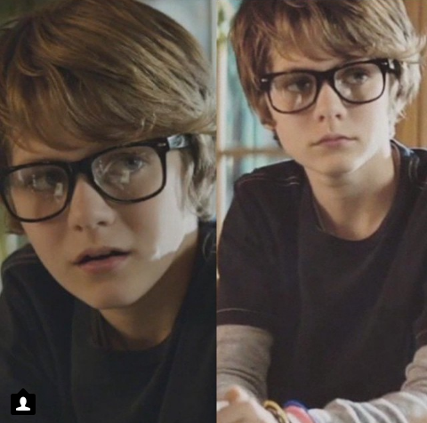 Ty Simpkins  || He looks great with glasses!!