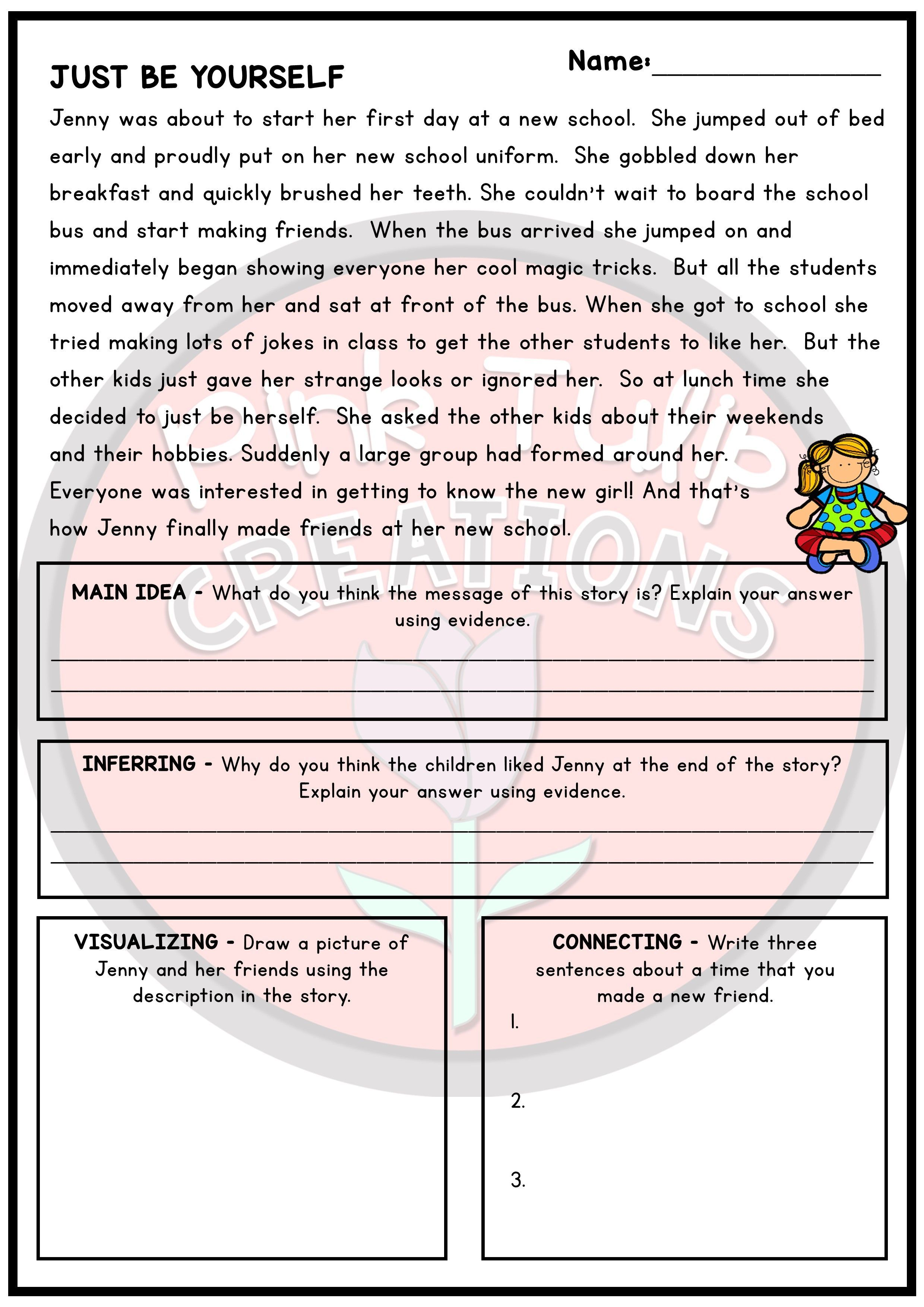 30 Page Reading Strategy Comprehension Pack In 2021 Reading Strategies Comprehension Reading Comprehension Worksheets [ 3508 x 2480 Pixel ]