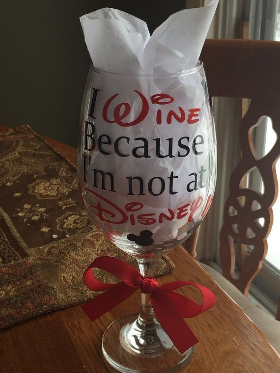 Disney oz wine glass with vinyl decals i wine by vinylmamashop diy vinyl decals for