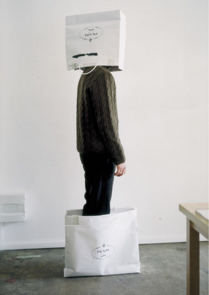 'Indoor Sculpture' by Erwin Wurm, 1999.