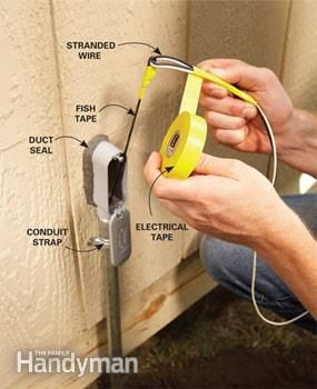 Electrical Wiring: How to Run Power Anywhere | backyard ideas ... on electrical energy, electrical wire, electrical cables, electrical grounding, electrical volt, electrical box, electrical tools, electrical cord, electrical diagrams, electrical conduit, electrical circuits, electrical engineering, electrical fire, electrical receptacle types, electrical repair, electrical fuses, electrical shocks, electrical technology, electrical equipment, electrical contracting,