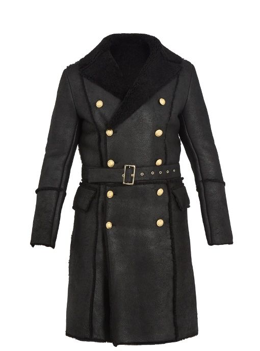 806a20f8606 BALMAIN Double-Breasted Shearling Coat.  balmain  cloth  coat ...