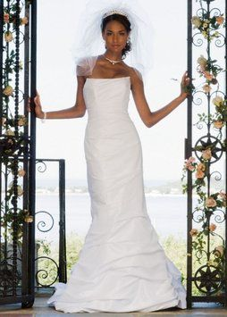 aacb3ca05c FOR SALE ON MY TRADESY!! David s Bridal White Style Number 7p9345 Dress  348