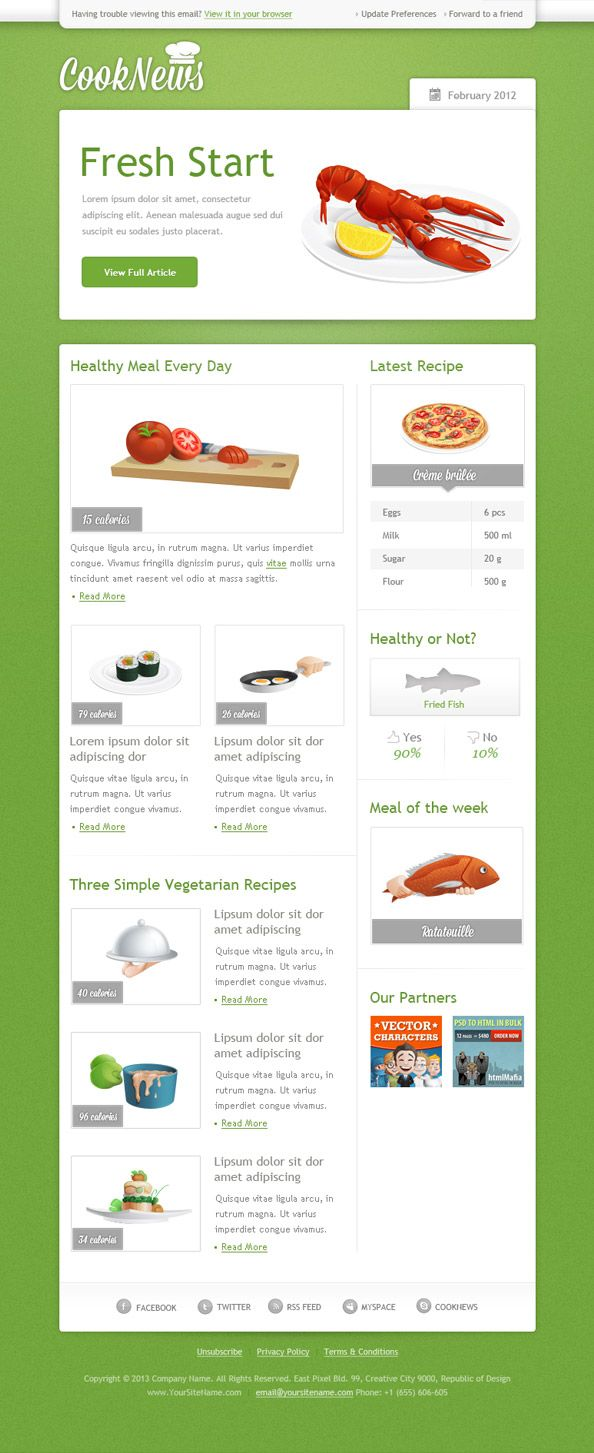 Green Email Template #email #newsletter | Thoughtful Email ...