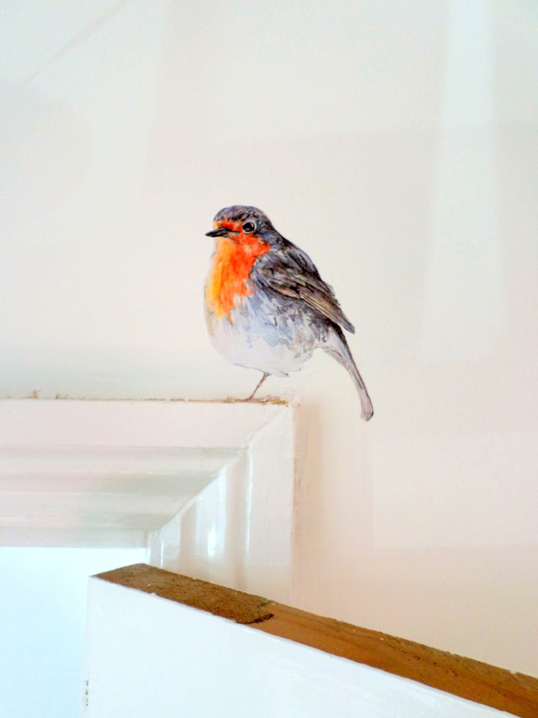 Robin Wall Stickers By Smockballpoint On Etsy Decoratieve Muren