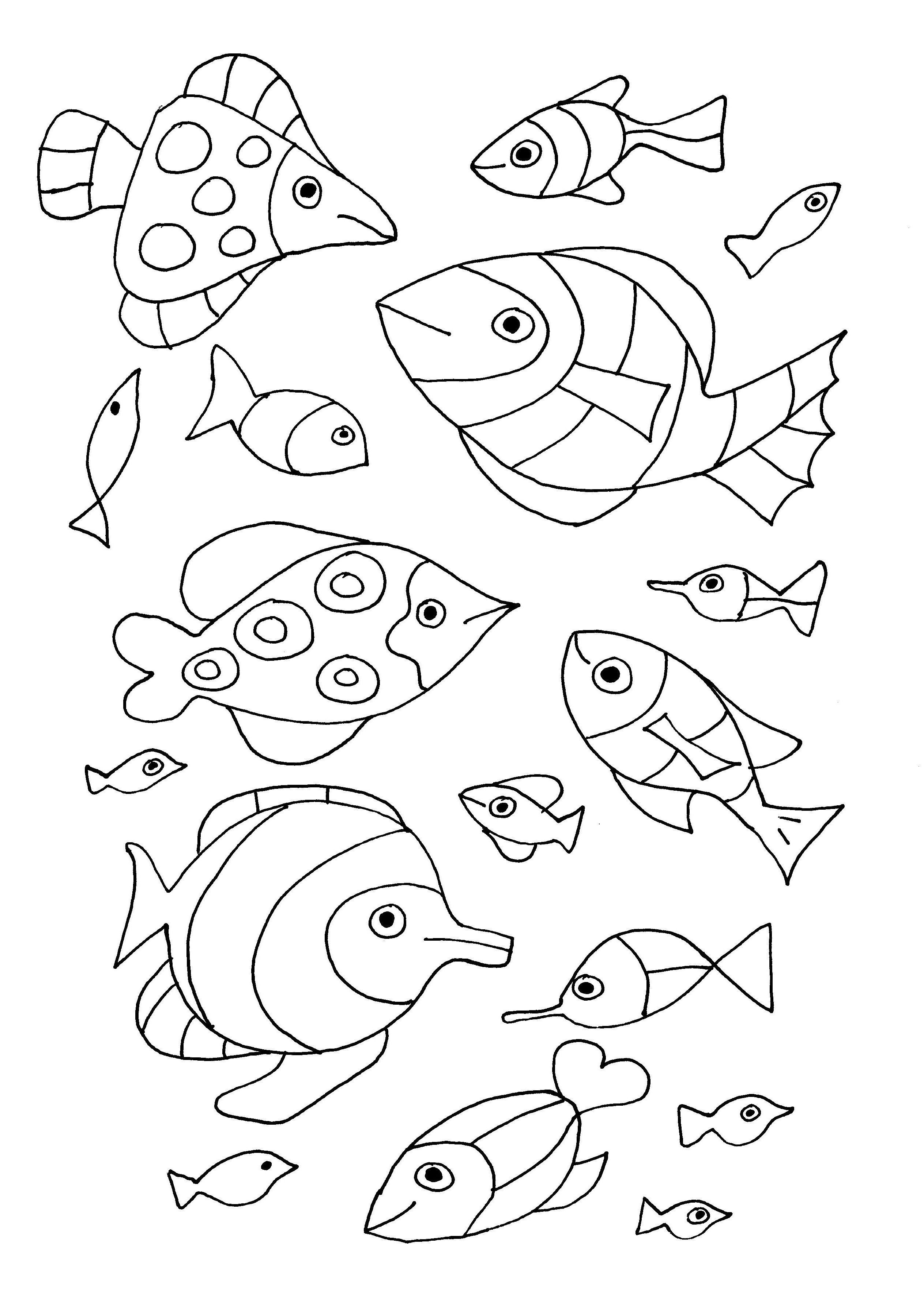 Pour imprimer ce coloriage gratuit coloriage gratuit - Poisson dessin ...