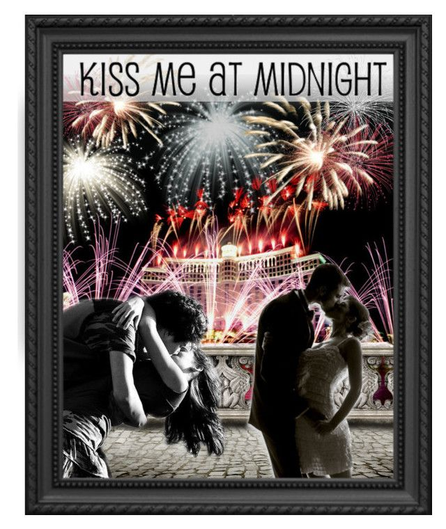 """2017!! Kiss me at midnight"" by fashion-film-fun ❤ liked on Polyvore featuring art"