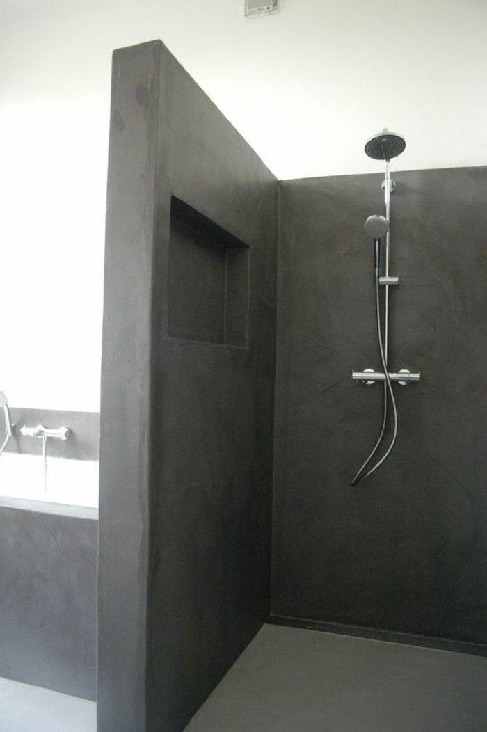 la salle de bain avec douche italienne 53 photos maison. Black Bedroom Furniture Sets. Home Design Ideas