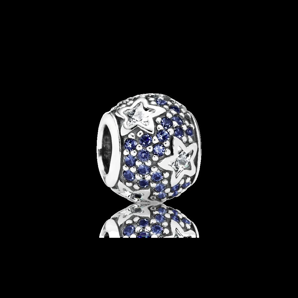 Charm Ciel Etoile Bleu Nuit - Pandora FR | Bracelet pandora charms ...