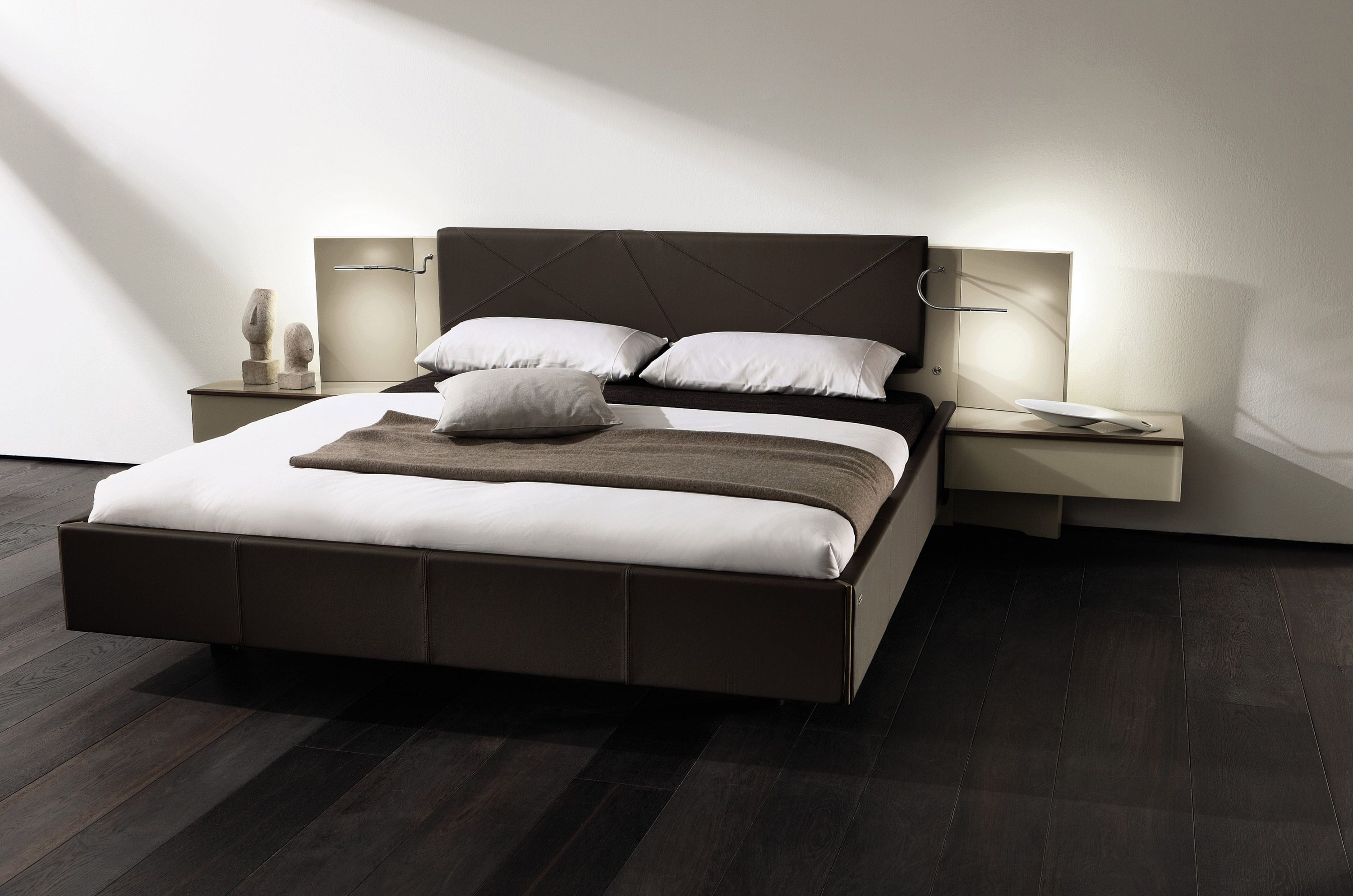 Hulsta Cutaro Bed With Built In Bedside Tables And Lights Bed