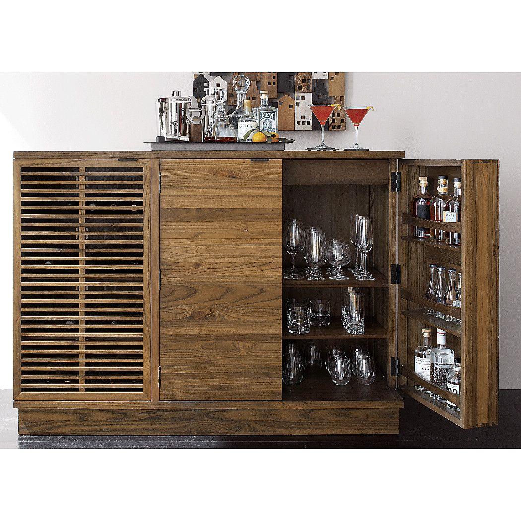 Marin Natural Large Bar Media Cabinet Modern Home Bar Bars For