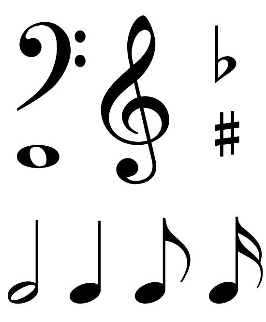 picture regarding Music Note Stencils Printable called hefty printable songs notes - Google Glance Mønstre