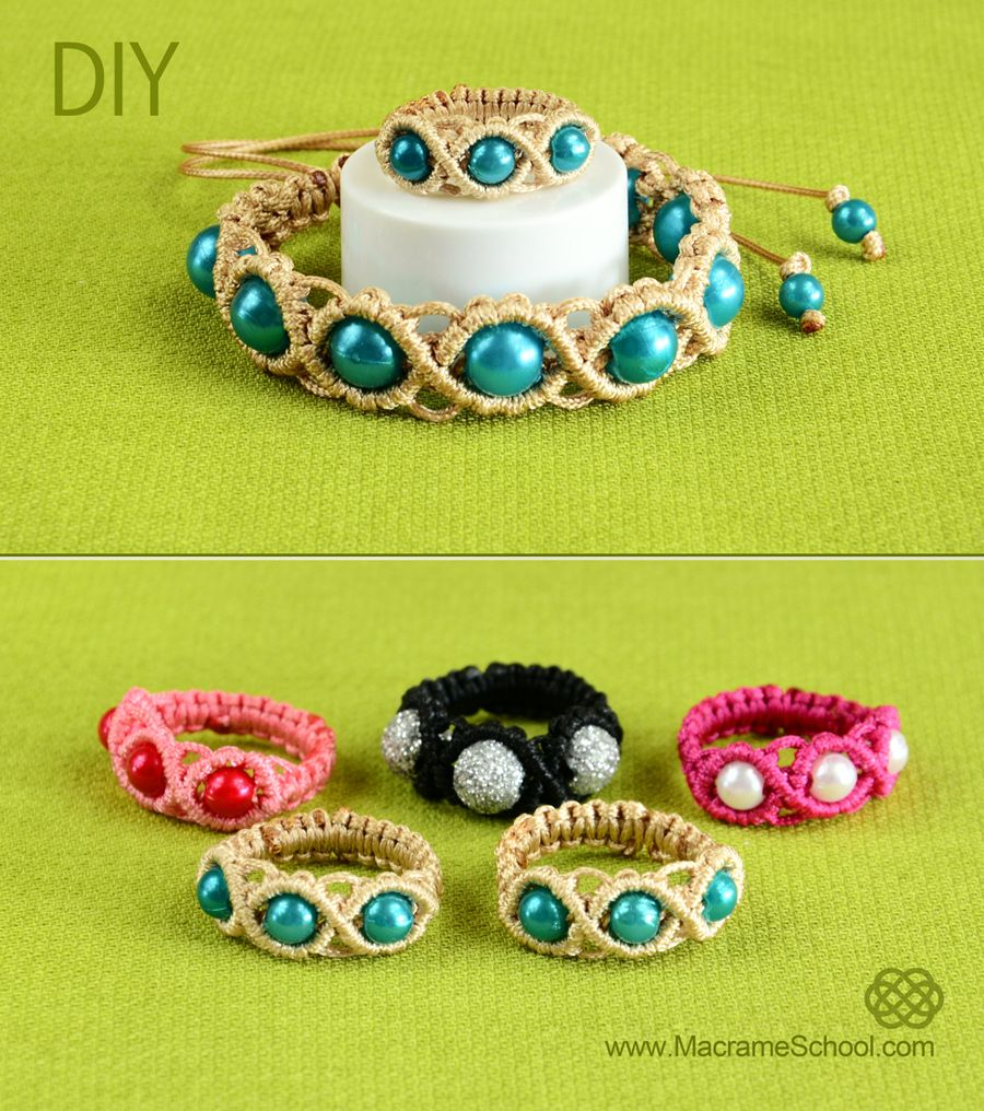 DIY Macrame Ring with Beads - http://youtu.be/1Dg8uidGOpQ