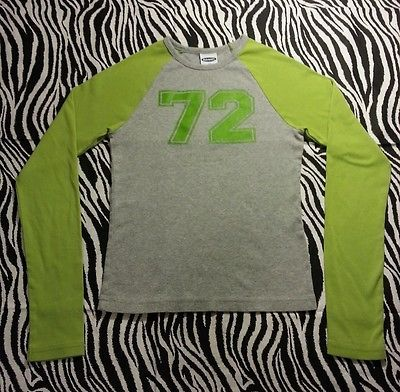 ~ Old Navy Juniors Lime Green L/S Tee Shirt Top Size XS ~EUC