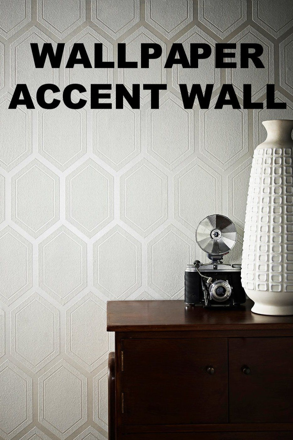 Patterned wallpaper is a quick and easy way to create an