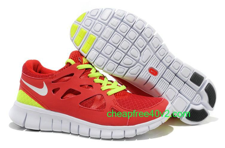 free shipping 0725b 64630 ... discount code for euv4345 nike free run 2 womens running shoe  university red white volt for