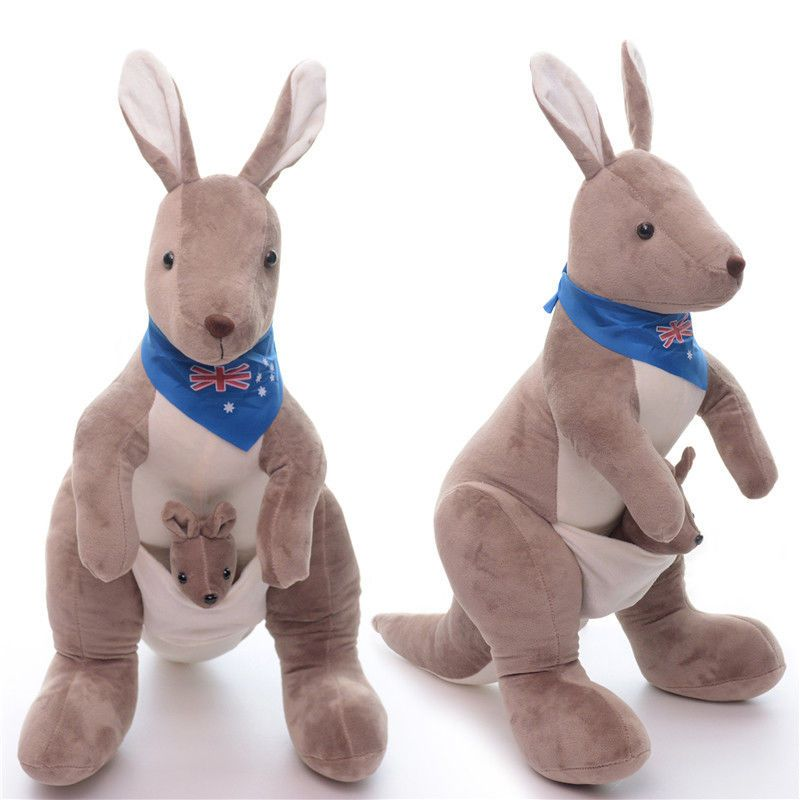 Kangaroo Australia Plush Stuffed Animal Baby Joey Toy Toys Gift Soft
