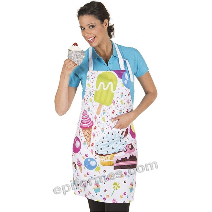 2cf32983279 Delantal heladería   Cocina de niños   Delantales, Delantales ...