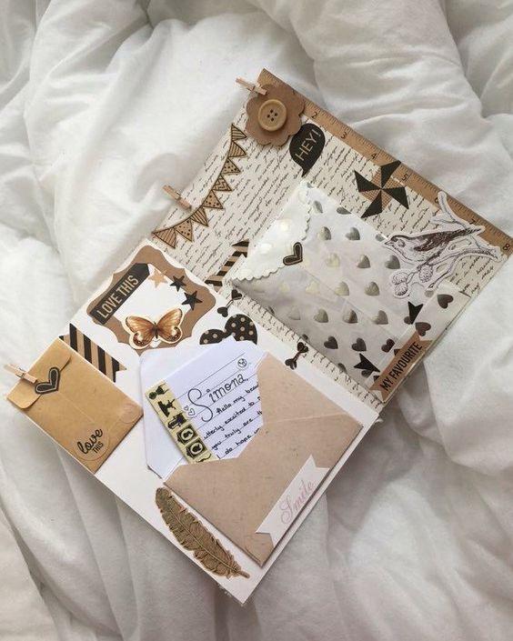 40 ไอเดีย Scrapbook จดบันทึกก็ได้ เก็บภาพสวยๆก็ดี แจกลายเส้นน่ารักฟรี!! – AkeruFeed