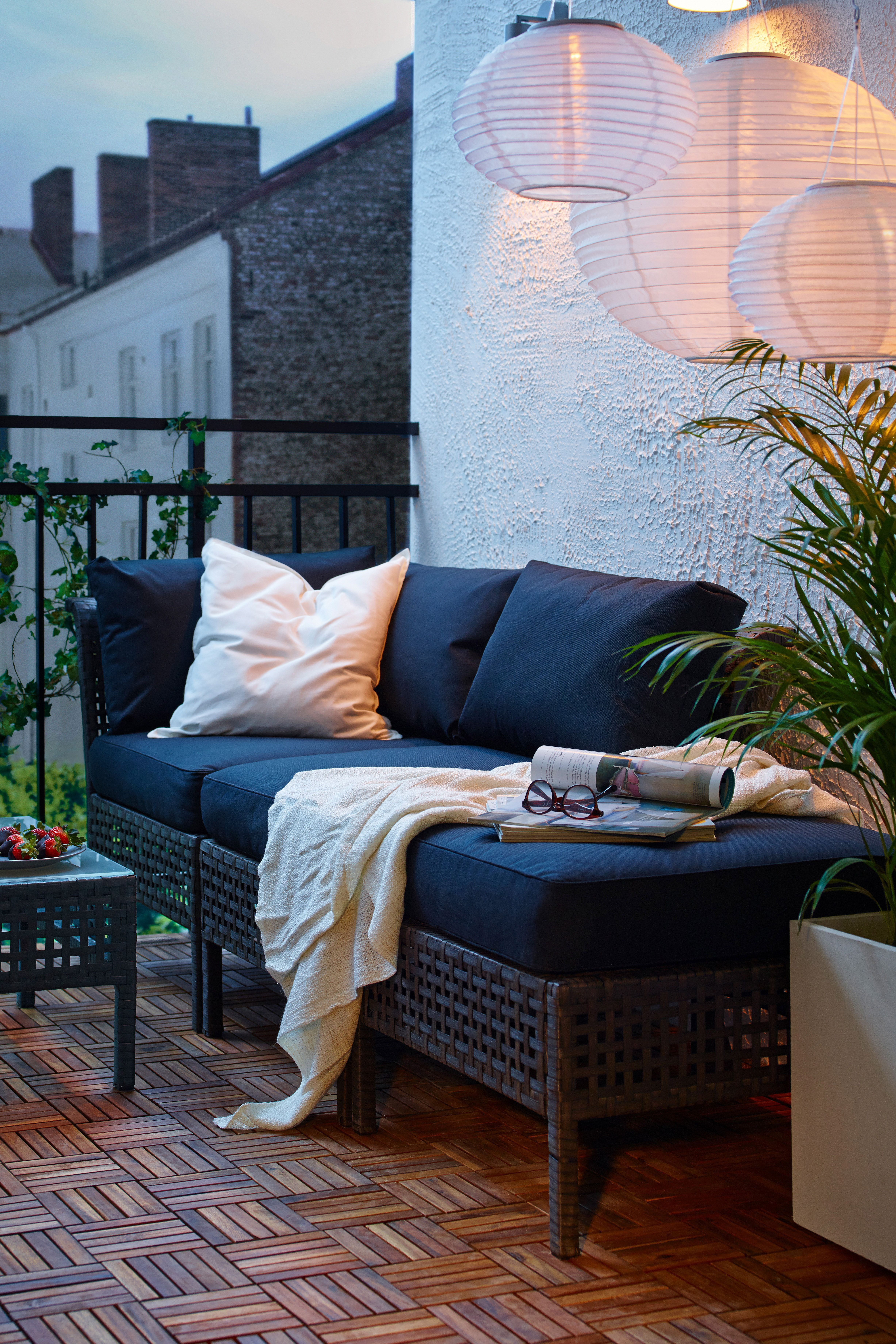 IKEA Loungemöbel #apartmentpatiodecorating