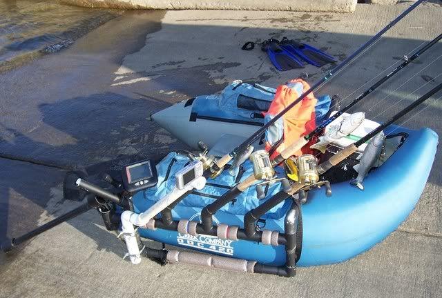 PVC Float Tube rod holder, fish finder, and camera mount | Fishing