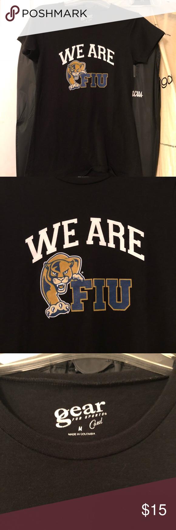 Florida International University Tee Show Your Panther Spirit With This Black Fiu Tee Purchased At The B University Tees Florida International University Tees