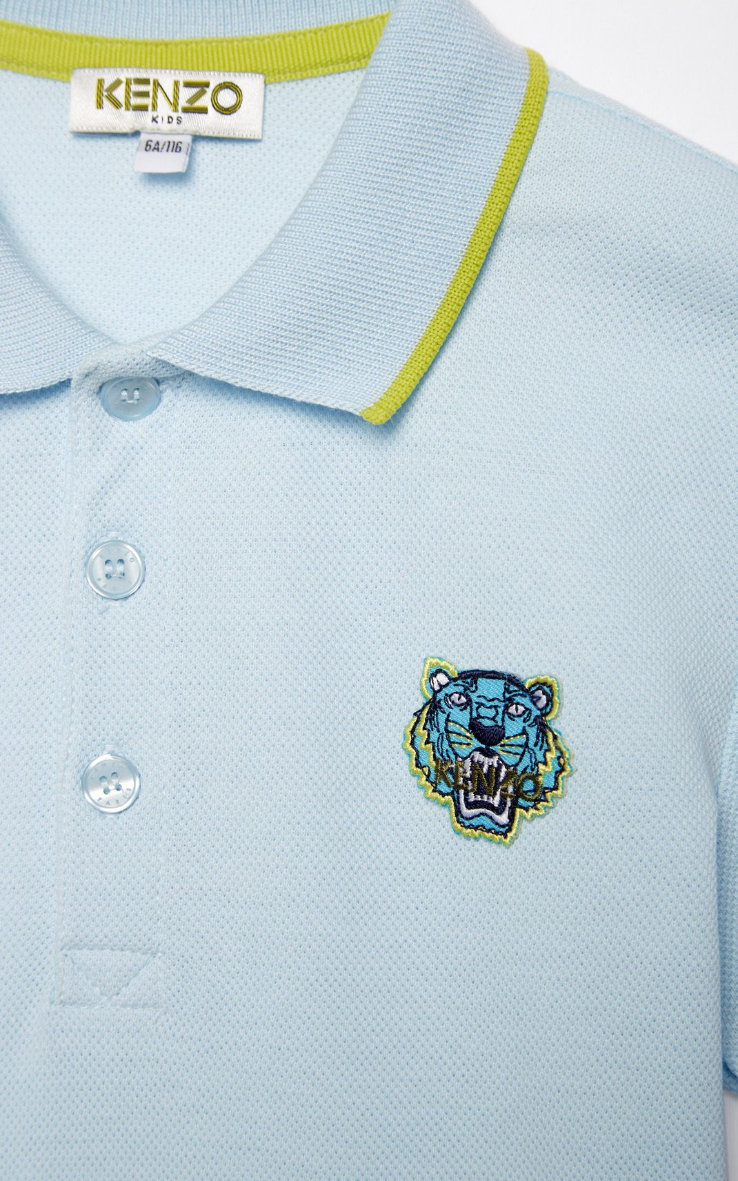 19bc09038 LIGHT BLUE Tiger polo shirt for men KENZO | Kenzo Summer 18 ...