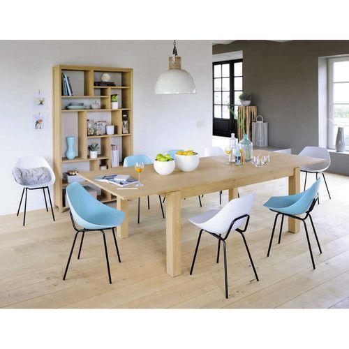 Table de salle à manger à rallonges en bois L 200 cm Salons