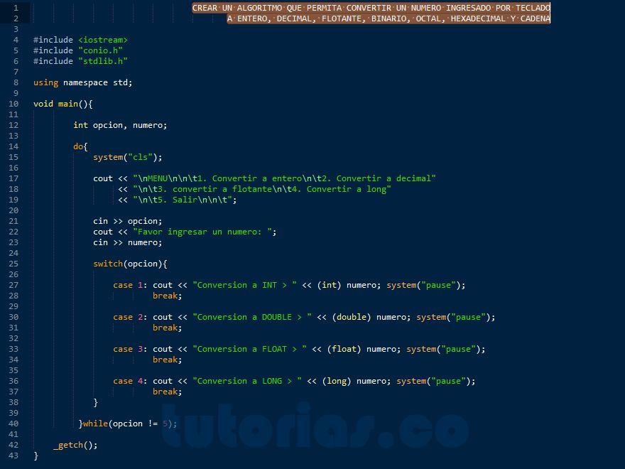 Http Tutorias Co Sentencia Case Visual C Conversion De Datos