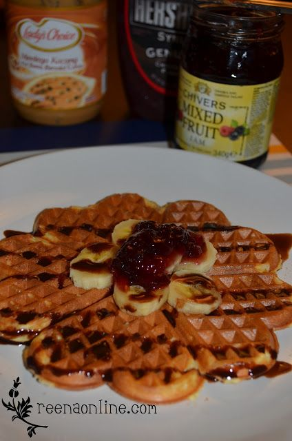 Reena S Online Resepi Waffle Rangup Breakfast Waffles Recipes Mixed Fruit