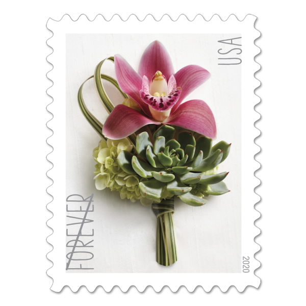 Contemporary Boutonniere Stamp In 2020 Wedding Stamp Wedding Postage Stamps Forever Stamps