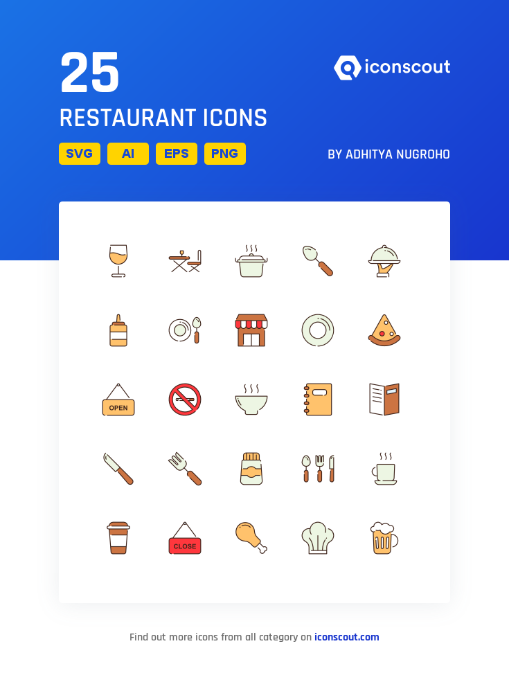 Download Restaurant Icon Pack Available In Svg Png Eps Ai Icon Fonts Restaurant Icon Icon Pack Icon