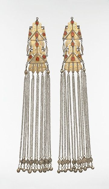 Pair of long temple pendants the met central asian jewelry pair of long temple pendants the met mozeypictures Choice Image