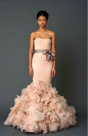 Non white wedding dress colors ivory