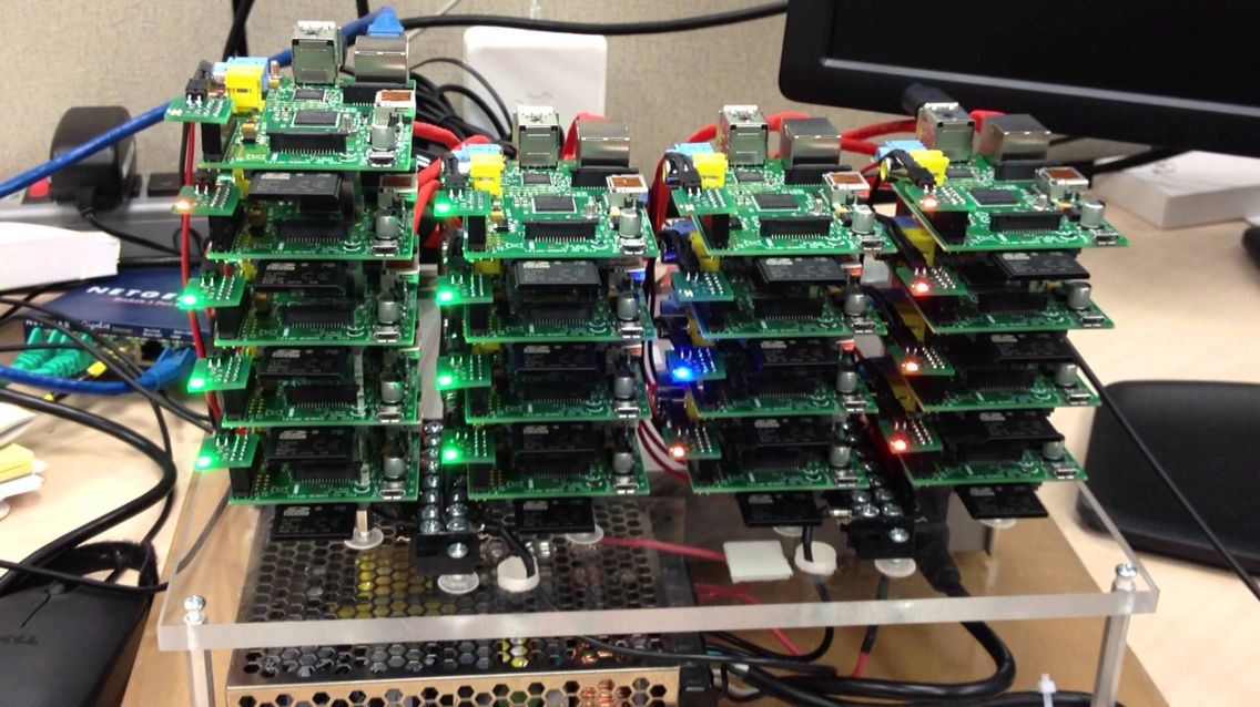 Raspberry Pi cluster running Python web crawler collecting