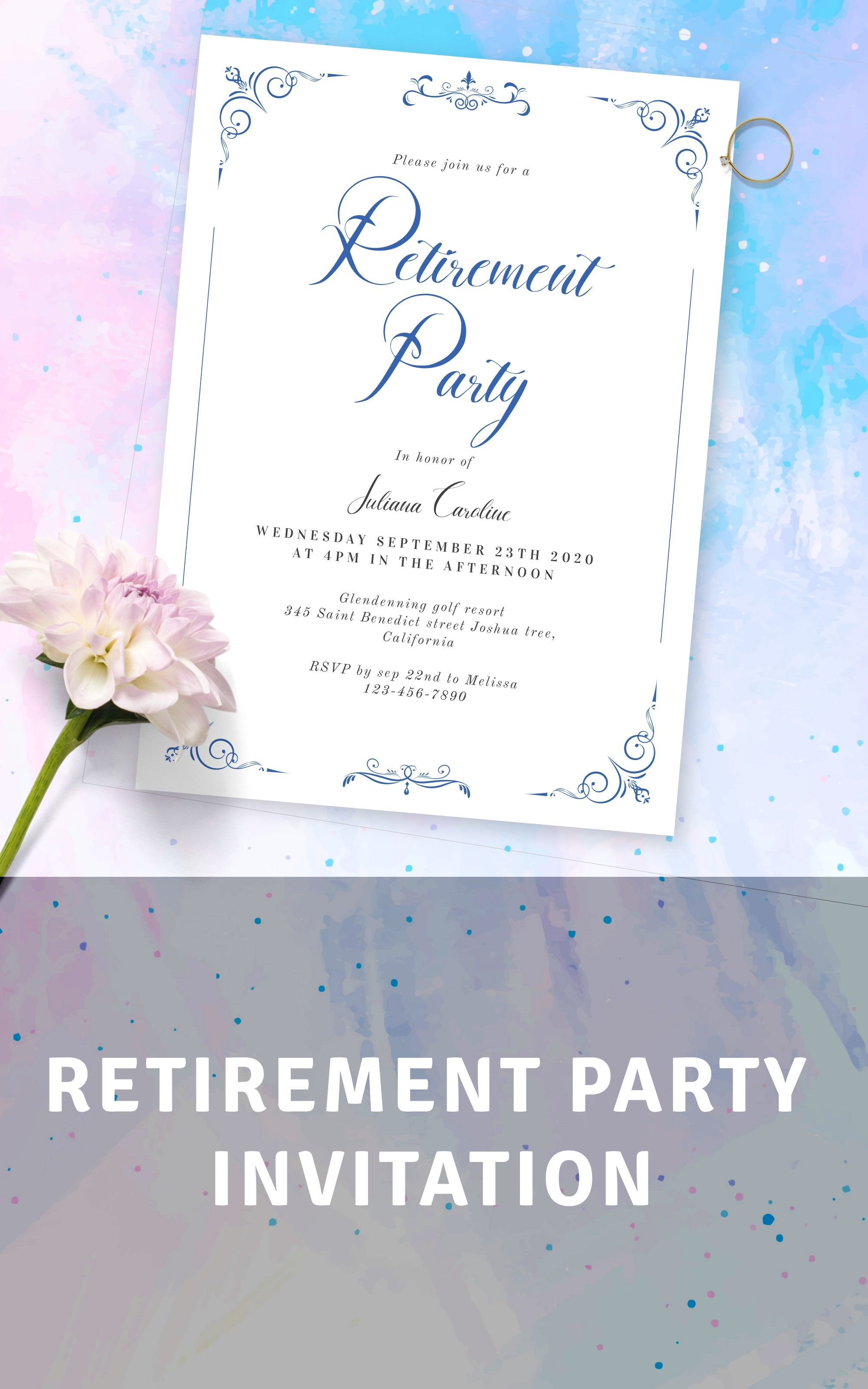 Retirement Party Invitation - Download & Print in 5