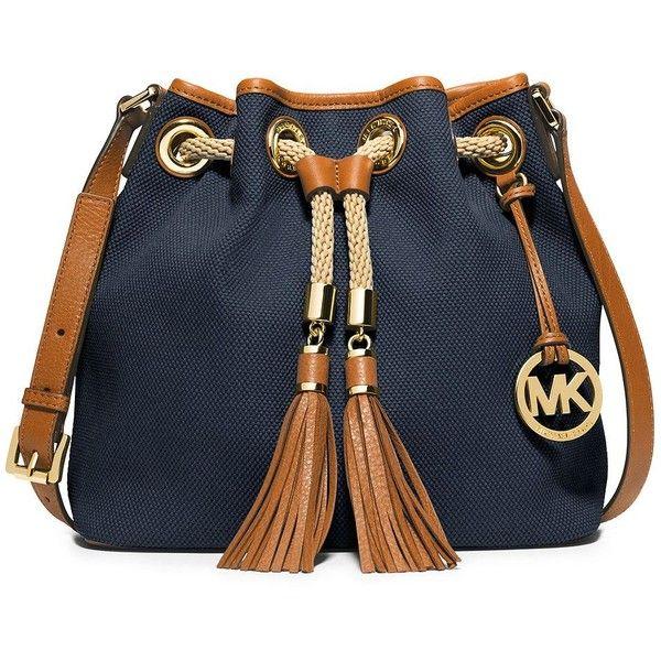 a4ea40eae0ee MICHAEL MICHAEL KORS Marina Canvas Medium Messenger Bag ( 198) ❤ liked on  Polyvore featuring bags