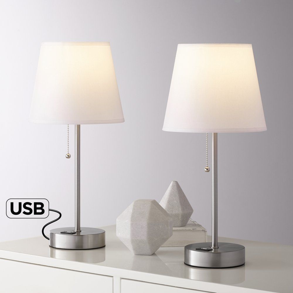 Usb Powered Table Lamp Lamp Modern Accent Tables Metal Accent Table