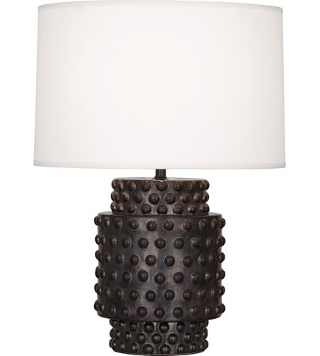 Robert Abbey Dolly 1 Light Table Lamp In Gunmetal Ceramic Glaze