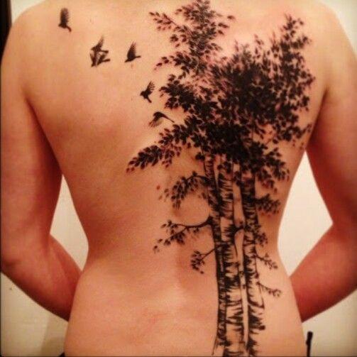 birch tree tattoo tattoo pinterest baum tattoo r cken tattoo und r cken. Black Bedroom Furniture Sets. Home Design Ideas